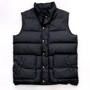 Lands End Men's Black Puffer Vest Large 42-44